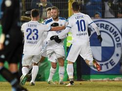 Die Sportfreunde Lotte stehen im Viertelfinale des DFB-Pokals