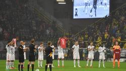 Auch beim DFL-Supercup wurde mit einer Schweigeminute an Gerd Müller gedacht