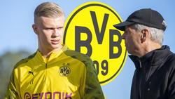 Erling Haaland ist der einzige Angreifer im Kader von BVB-Trainer Lucien Favre