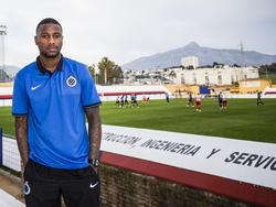 Stefano Denswil oogt relaxed als hij is aangesloten bij het trainingskamp van zijn nieuwe werkgever Club Brugge. (06-01-2015)