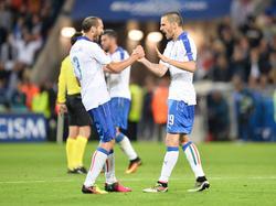 Chiellini (l.) und Bonucci überzeugten beim EM-Auftakt der Italiener