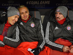 Robben, Rafinha y Ribéry se quedaron en el banquillo ante Besiktas. (Foto: Getty)