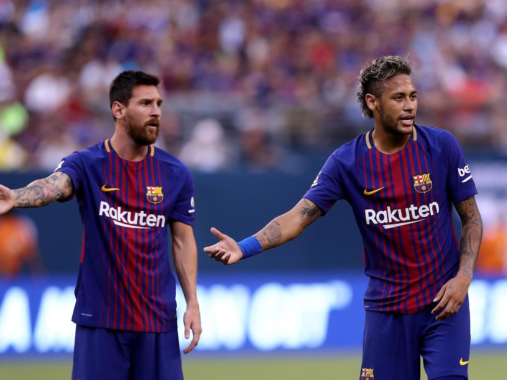 Lionel Messi und Neymar spielten vier Jahre zusammen beim FC Barcelona
