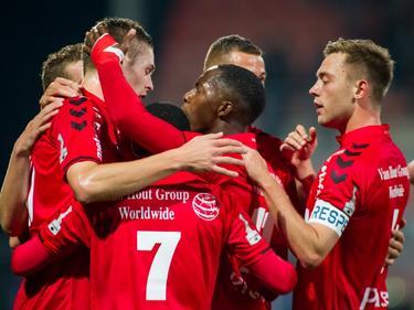 Helmond Sport kan juichen tijdens het competitieduel met FC Volendam (16-10-2016).