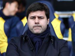 Pochettino op de bank tijdens de wedstrijd Burnley - Tottenham Hotspur