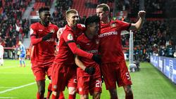Bayer Leverkusen jubelt über den Sieg gegen Union Berlin