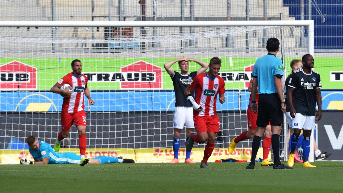 Der HSV musste sich dem 1. FC Heidenheim geschlagen geben
