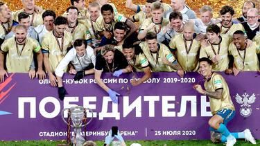 Zenit St. Petersburg im Freudentaumel