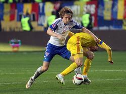 Kämpfender Fußballzwerg