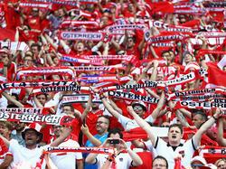 Island gegen ÖSterreich Fans