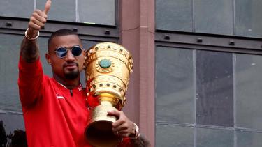 Kevin-Prince Boateng gewann mit Eintracht Frankfurt den DFB-Pokal