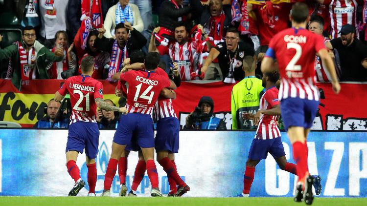 Los jugadores del Atlético celebran el gol de Diego Costa. (Foto: Getty)