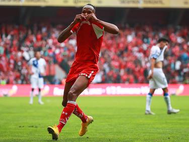 Luis Quiñónes marcó el gol del triunfo del Toluca. (Foto: Getty)