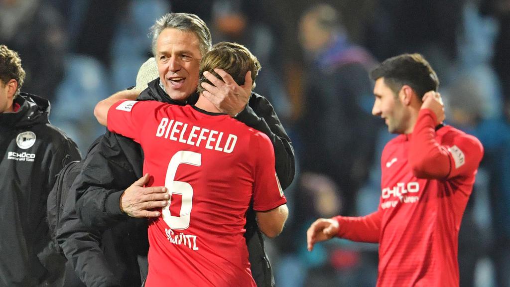 Bielefeld-Coach Uwe Neuhaus konnte zufrieden sein