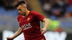 Stephan Kareem El Shaarawy con la camiseta de la Roma.