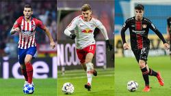 Lucas Hernández, Timo Werner und Kai Havertz sollen bald Spieler des FC Bayern sein