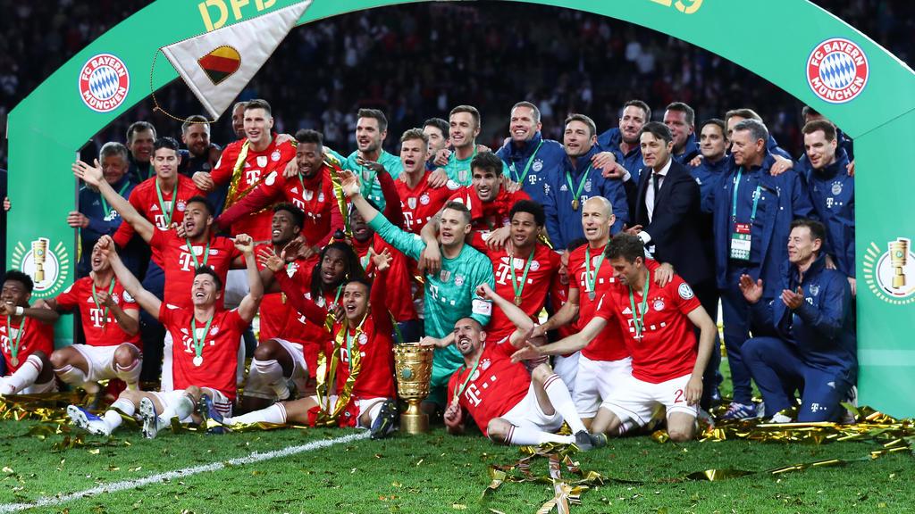 Der FC Bayern bejubelte das Double 2018/2019