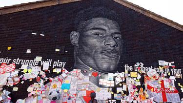 Marcus Rashfords Wandgemälde in Manchester