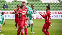 RB Leipzig jubelte gleich vierfach bei Werder Bremen