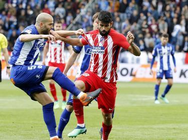 Diego Costa jugó en la punta del ataque colchonero. (Foto: Imago)