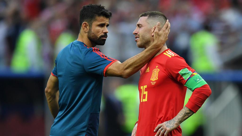 Diego Costa wurde im WM-Achtelfinale gegen Russland vorzeitig ausgewechselt