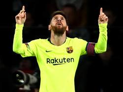 Lionel Messi erzielte sein 106. Tor in der Champions League