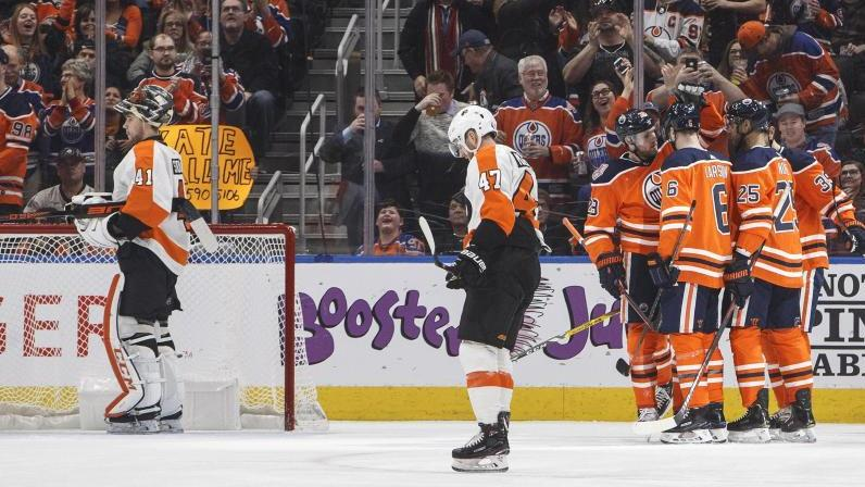 Die Edmonton Oilers setzten sich gegen die Philadelphia Flyers durch