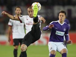 Nicht nur in dieser Szene hatte die Austria gegen Milan das Nachsehen
