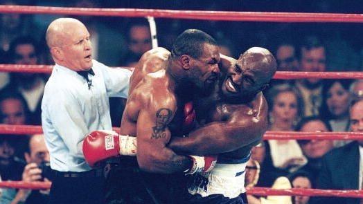 Evander Holyfield und Mike Tyson trafen 1997 in Las Vegas aufeinander
