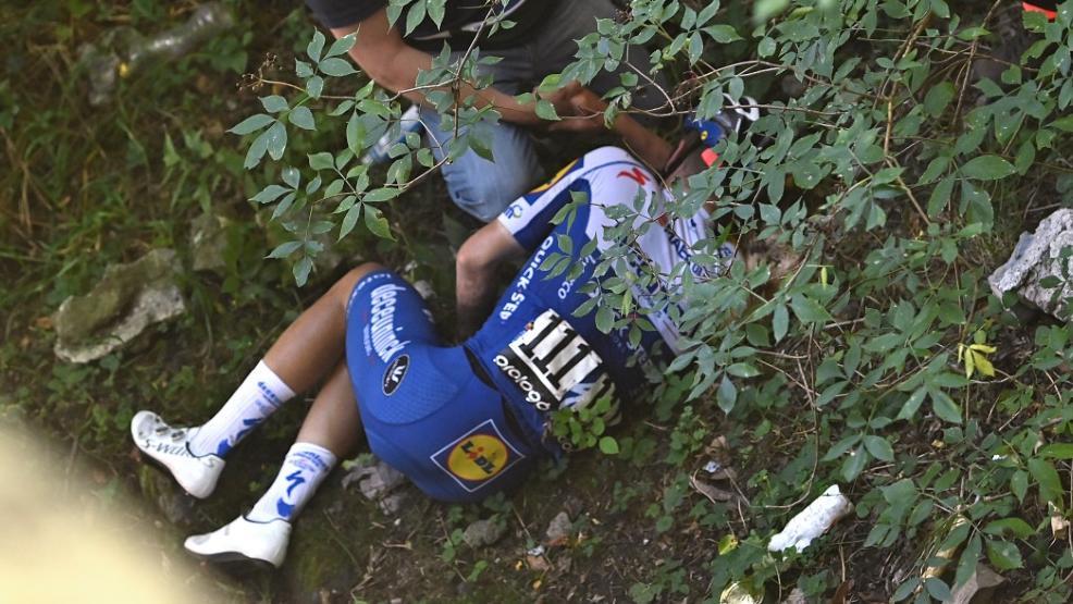 Remco Evenepoel stürzte bei der Lombardei-Rundfahrt