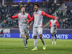 Salzburg-Juwel Karim Adeyemi jubelt über sein erstes Champions League-Tor