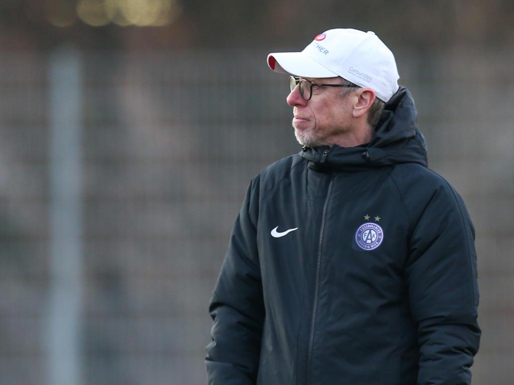 Peter Stöger konnte sich zuletzt als Austria-Coach nur selten freuen