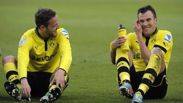 Julian Schieber und Kevin Großkreutz spielten zusammen für den BVB
