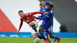 United stolperte gegen Leicester, ManCity ist Meister