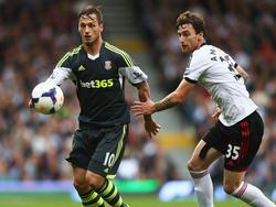 Marko Arnautović musste sich mit Stoke bei Fulham geschlagen geben