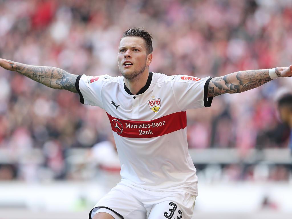 Daniel Ginczek im Trikot des VfB Stuttgart