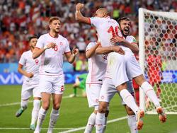 Túnez celebra la única victoria en este Mundial contra Panamá. (Foto: Getty)