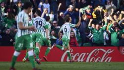 Canales celebra su gol de la victoria contra el Atlético. (Foto: Getty)