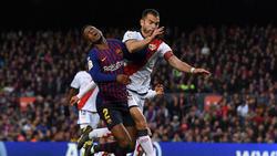 El Rayo plantó cara durante todo el choque en el Camp Nou. (Foto: Getty)