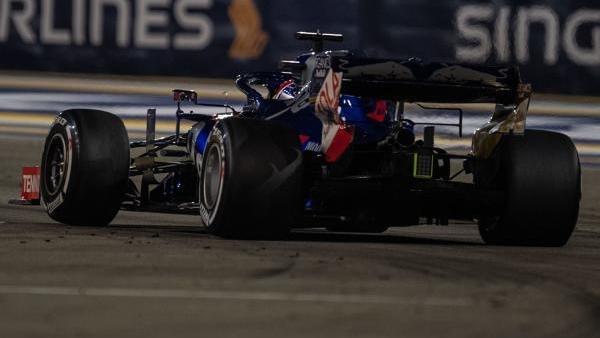 Für Daniil Kvyat war das Rennen nach dem Unfall gelaufen