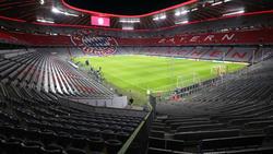 FC Bayern in der Champions League vor leeren Rängen