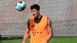 Robert Lewandowski hat das Training beim FC Bayer wieder aufgenommen