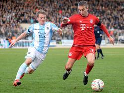 Gianluca Gaudino (r.) spielte in der laufenden Saison meist für Bayern II