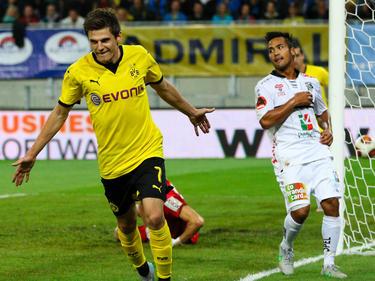 Jonas Hofmann marcó el único tanto del Borussia en la ida ante el Wolfsberger AC. (Foto: Getty)