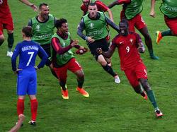 Éder bejubelt seinen Siegtreffer gegen Gastgeber Frankreich