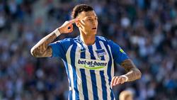 Davie Selke hat mit der Hertha große Ziele