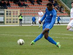 Moise Kean im Trikot der italienischen Nationalmannschaft bei einem U17-Einsatz
