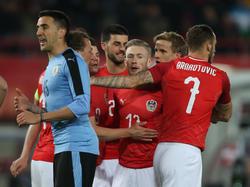 Los austríacos salieron a jugarle de igual a igual a los charrúas. (Foto: Getty)