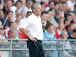 Der FC Basel mit Coach Marcel Koller haben am Mittwoch den LASK zu Gast