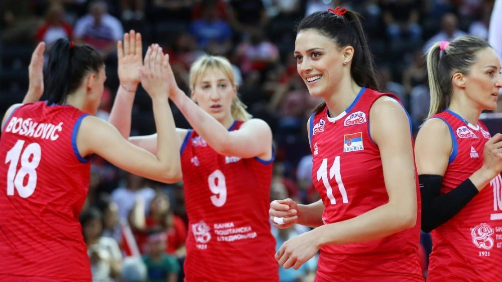 Serbien zieht erneut ins Finale der Frauen-EM ein